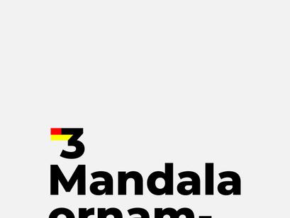 3 Free Mandala Ornaments
