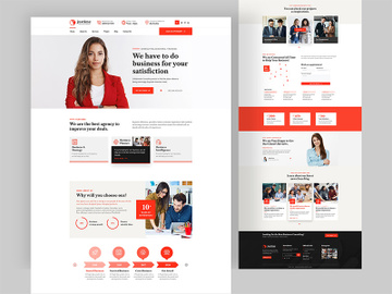 Business Consultancy Landing Page Design preview picture