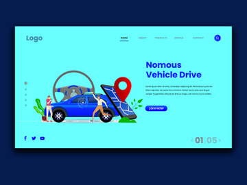 Vehicle Driver Landing Page preview picture