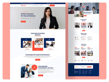 Business Consultant Landing Page Web design preview picture
