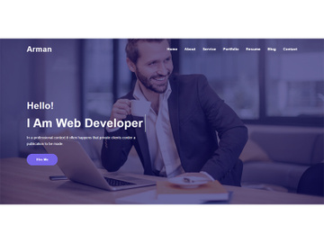 Home Page Header Design Website Template preview picture