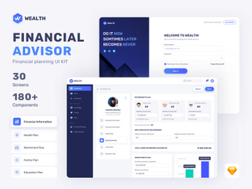 Wealth - Financial Web UI Kit preview picture