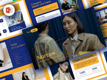 Narrow PowerPoint Business Presentation preview picture