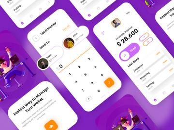 Wallet App UI Comcept preview picture