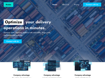Delivery single Website preview picture