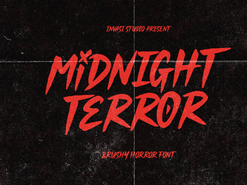 Midnight Terror - Horror Font preview picture
