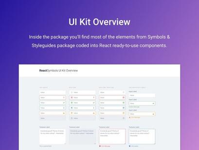 ReactSymbols   ReactJS UI Kit by Vlastimil Fišer ~ EpicPxls