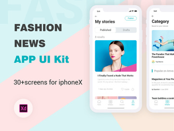 Fashion News UI Kit preview picture