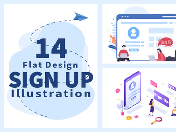 14 Registration or Sign Up Login for Account illustration preview picture