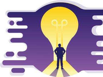 Illustration : Businessman, Idea, preview picture