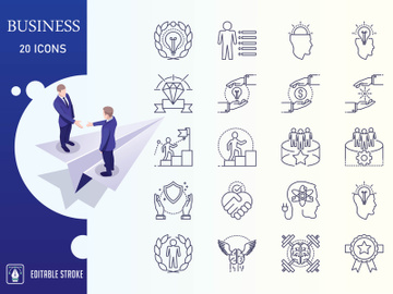 Business And Finance Icon Set preview picture