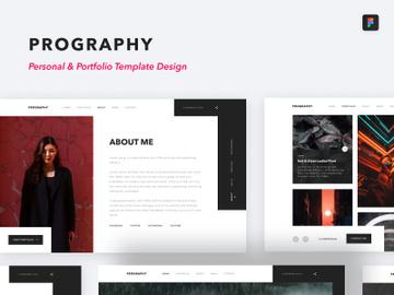 Prography personal portfolio web design preview picture