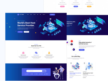 Halci Hosting  Web Templates preview picture