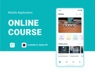 online courses APP UI Kit preview picture