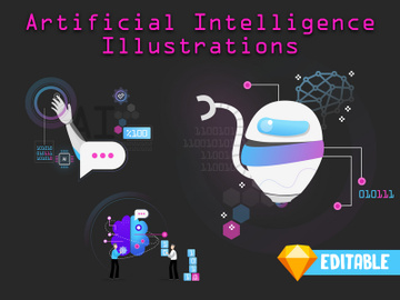 Artificial Intelligence Illustrations - 3 preview picture