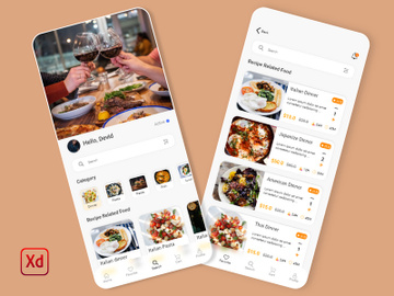 Food Recipe Mobile App UI preview picture