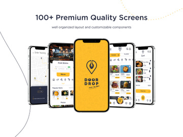 Door Drop - Adobe XD food delivery UI Kit preview picture