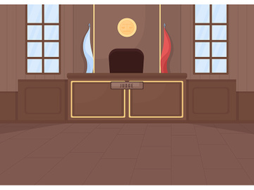 Supreme courthouse flat color vector illustration preview picture