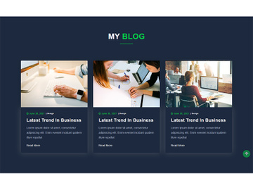 Blog Website Template preview picture