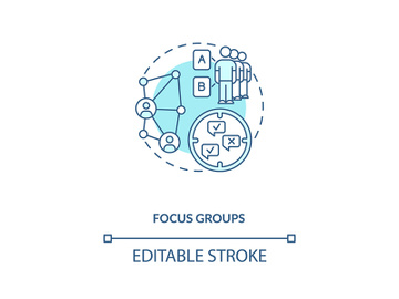 Focus group concept icon preview picture