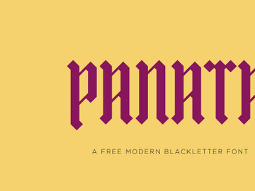 PANATA Free Blackletter Font preview picture