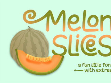 Free Melon Slices Display Font preview picture