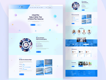 Sass Landing page  Ui Design preview picture