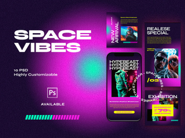 Instagram Template - Spacevibes  Fashion Streetwear preview picture