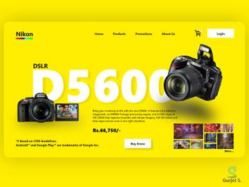Nikon Web Landing Page Design preview picture