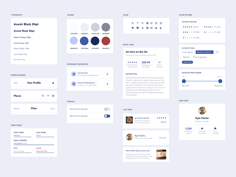 Free UI Elements for Mobile App Design by Meagan Fisher ~ EpicPxls