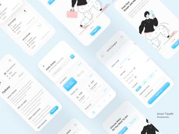 Job finder app ui kit preview picture