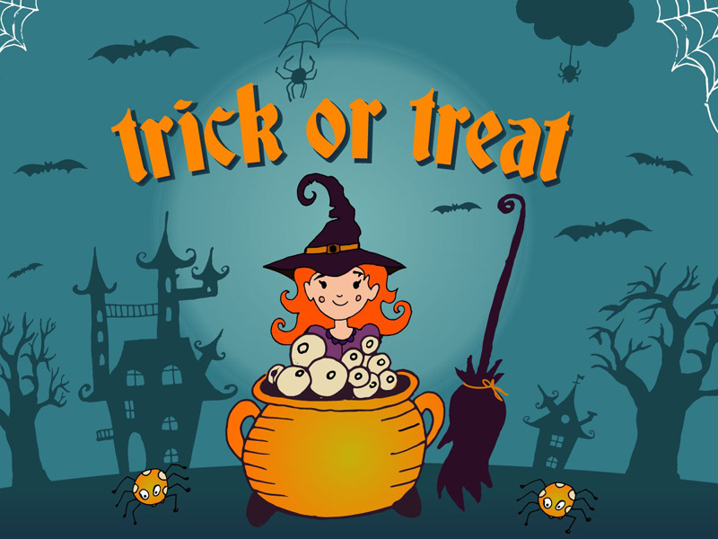 Trick Or Treat Free Vector Illustration preview picture