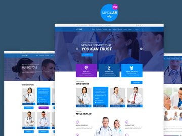MediLab Best Medical Website Template PSD preview picture