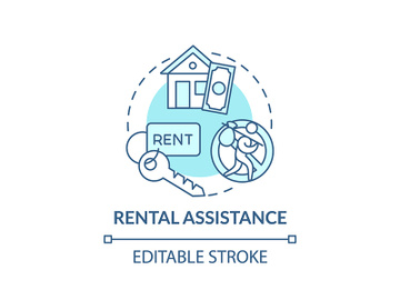 Rental assistance concept icon preview picture