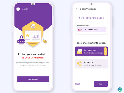 Two-Factor Authentication Mobile App UI Kit