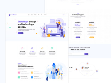 Halci Digital Agency Web Templates preview picture