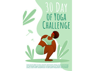 30 day of yoga challenge brochure template preview picture