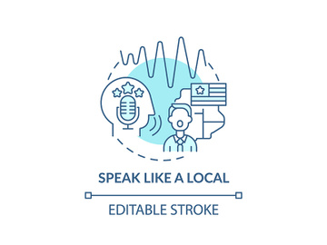 Speaking like local concept icon preview picture