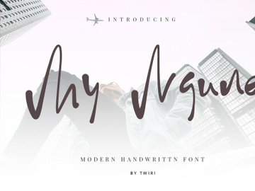 My Ngune Font Handwritten preview picture