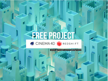 FREE PROJECT _ isometric city preview picture