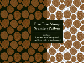 Free Tree Stump Seamless Pattern preview picture