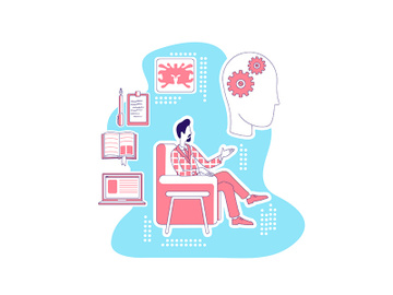 Psychologist thin line concept vector illustration preview picture