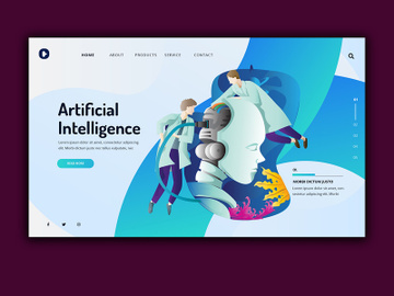 Artificial Intelligence Landing Page preview picture