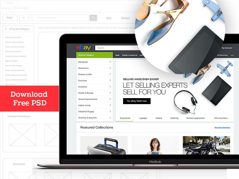 Download free ebay template website