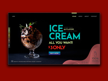 Flavor Ice Cream Landing Page preview picture