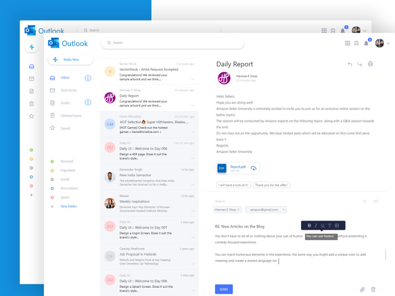 Outlook Email Redesign