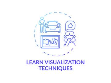 Learn visualization technique blue gradient concept icon preview picture