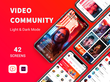 Video community App UI Kit preview picture