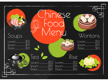 Chinese food menu template preview picture