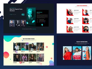 23 Team Member Widget Design for Web-UI Kit preview picture